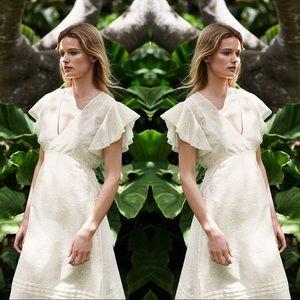 NWT Tory Burch Susanna daisy midi dress, size 4